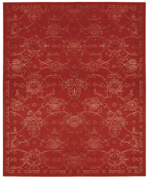 Nourison Silk Infusion Sif01 Red Area Rug