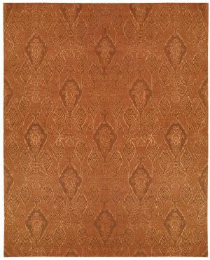 Nourison Silk Infusion Sif03 Dark Rust Area Rug