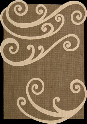 Nourison Silhouettes SIL-02 Chocolate Area Rug