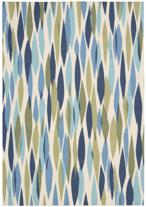 Nourison Waverly Sun & Shade Snd01 Seaglass Area Rug