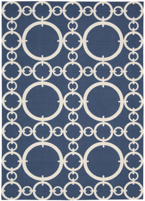 Nourison Waverly Sun & Shade Snd02 Navy Area Rug