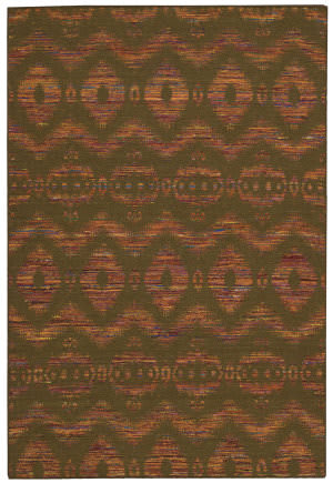 Nourison Spectrum Spe01 Flame Chocolate Area Rug