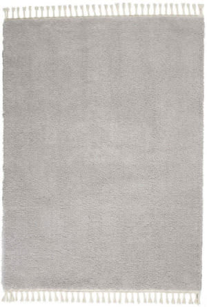 Nourison Serenity Shag Srs04 Light Grey Area Rug