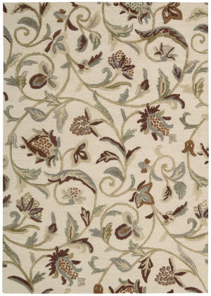Nourison Sunburst Sun02 Buttercream Area Rug