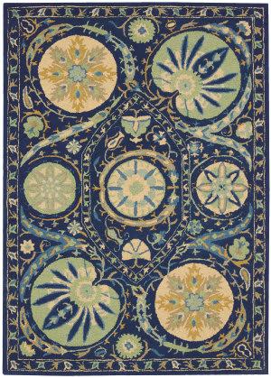 Nourison Suzani Suz04 Blue Area Rug