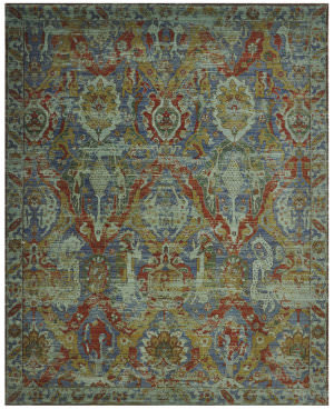 Nourison Timeless Tml09 Turquoise Area Rug