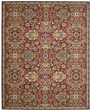 Nourison Timeless Tml17 Red Area Rug