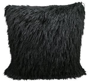 Nourison Shag Pillow Tr008 Black