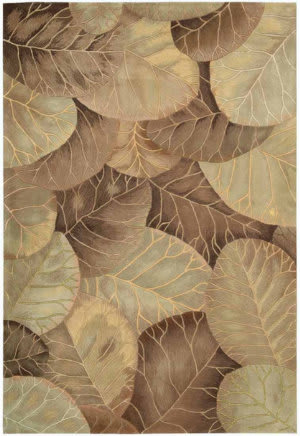 Nourison Tropics TS-12 Brown-Green Area Rug