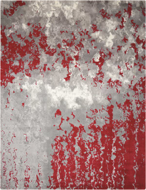 Nourison Twilight Twi21 Gray - Red Area Rug