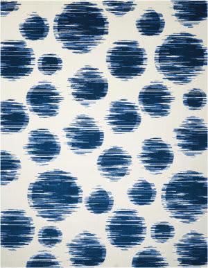 Nourison Twilight Twi23 Ivory Blue Area Rug