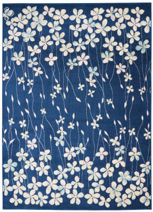 Nourison Tranquil Tra04 Navy Area Rug
