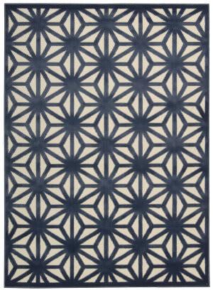 Nourison Ultima Ul631 Ivory Blue Area Rug