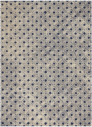 Nourison Modern Deco Mdc02 Navy - Ivory Area Rug
