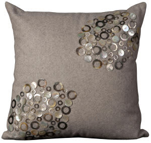 Nourison Pillows Luminescence V4054 Silver
