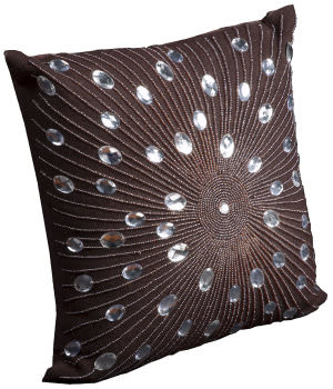 Nourison Pillows Luminescence V5010 Brown