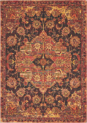 Nourison Jewel Jel01 Ember Red Area Rug