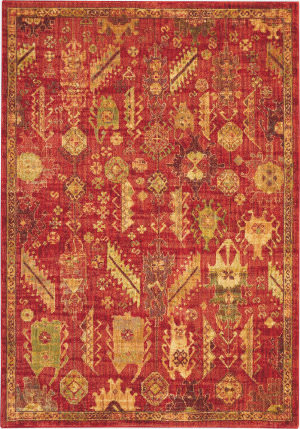 Nourison Jewel Jel04 Red Area Rug
