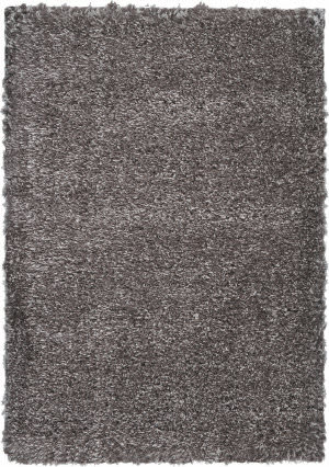Nourison Luxe Shag Lxs01 Charcoal Area Rug