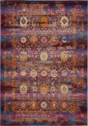 Nourison Vintage Kashan Vka03 Red - Multicolor Area Rug