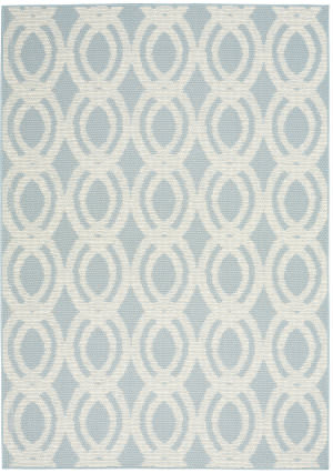 Nourison Aruba Arb05 Light Blue - Cream Area Rug
