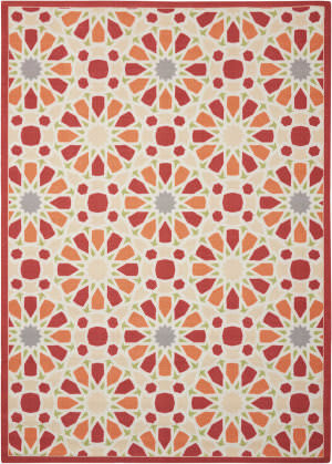 Nourison Sun And Shade Snd29 Flamingo Area Rug