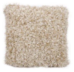 Nourison Shag Pillow We210 Light Beige