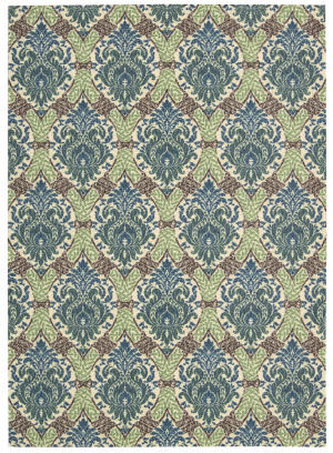 Nourison Wav16 Treasures Wtr03 Bluejay Area Rug