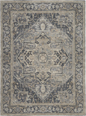 Kathy Ireland Moroccan Celebration Ki381 Navy Area Rug