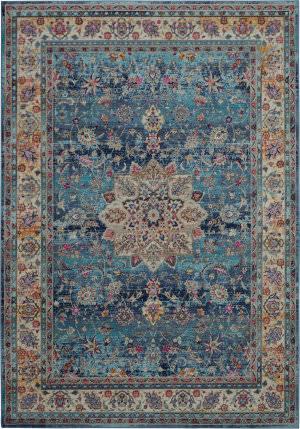 Nourison Vintage Kashan Vka01 Blue Area Rug