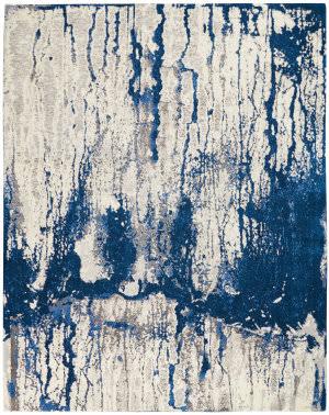Nourison Twilight Twi29 Ivory Blue Area Rug