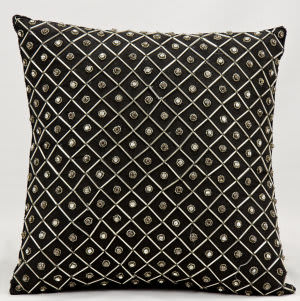 Nourison Pillows Luminescence Z5923 Black