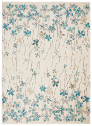 Nourison Tranquil Tra04 Ivory Area Rug