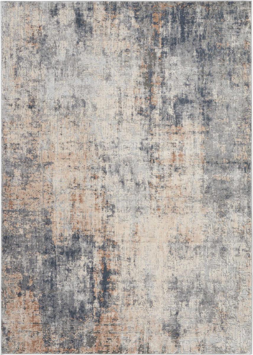 Nourison Rustic Textures Rus01 Grey Beige Rug Studio