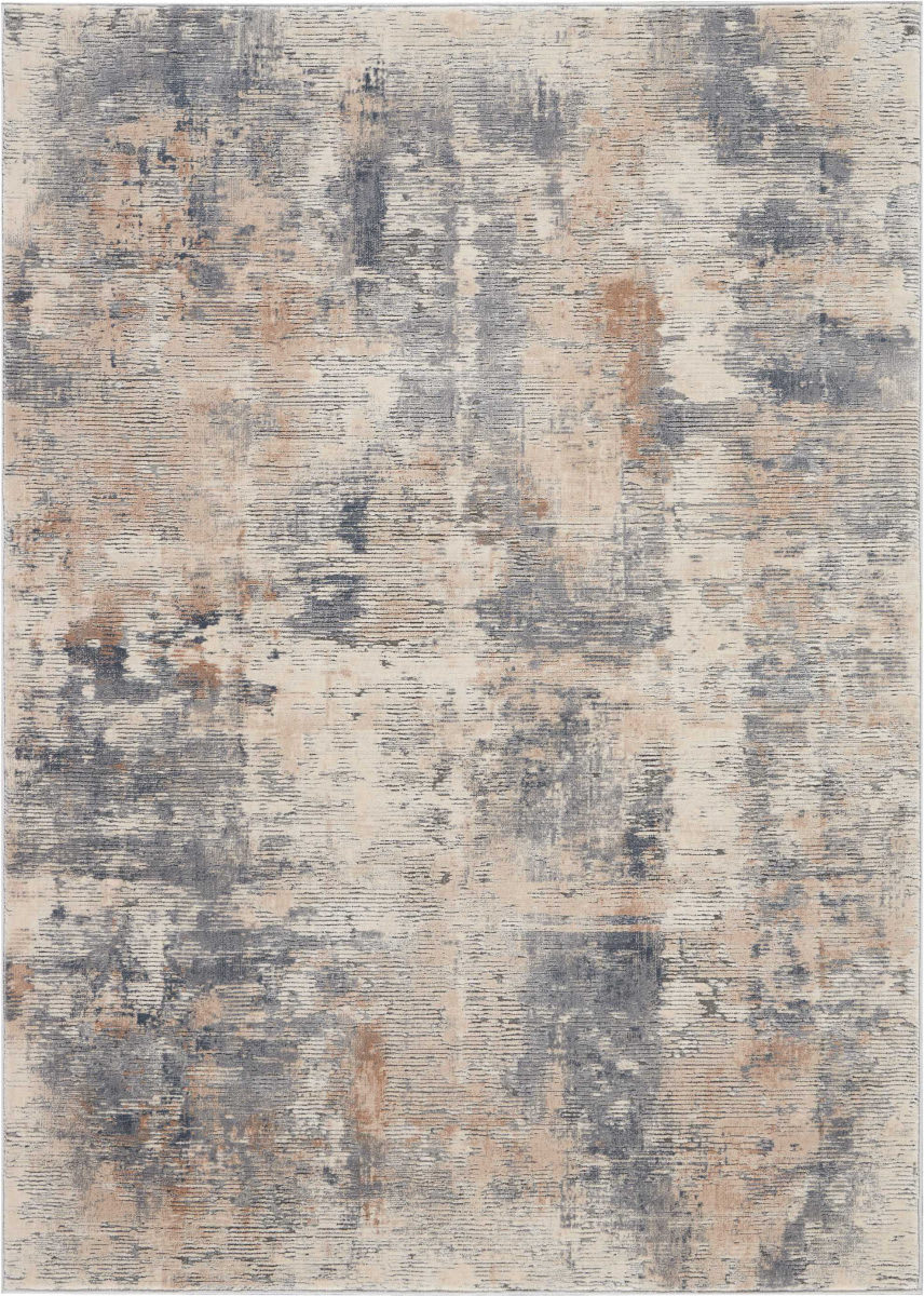 Nourison Rustic Textures Rus05 Beige Grey Rug Studio