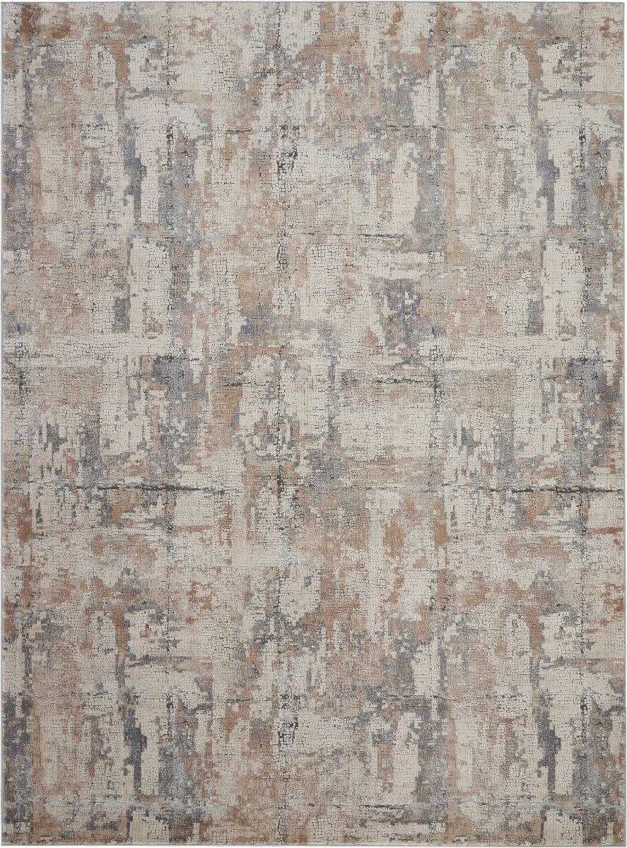 Nourison Rustic Textures Rus06 Beige Grey Rug Studio