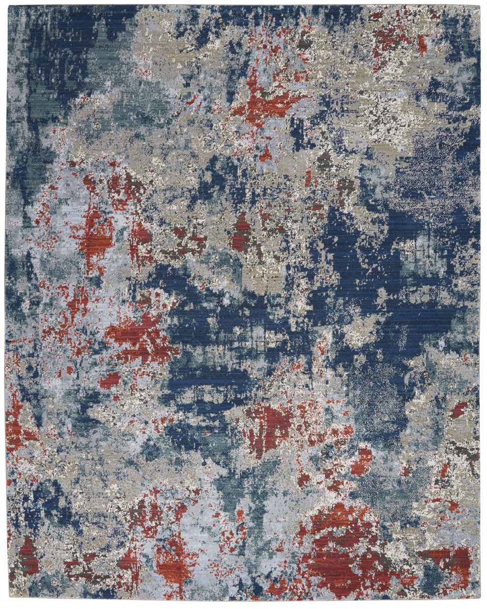 Nourison Artworks Atw01 Navy Brick Rug Studio