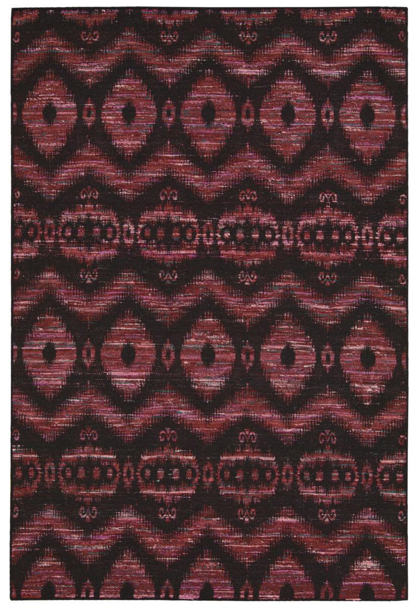 Nourison Spectrum Spe01 Burgundy Black Area Rug Clearance