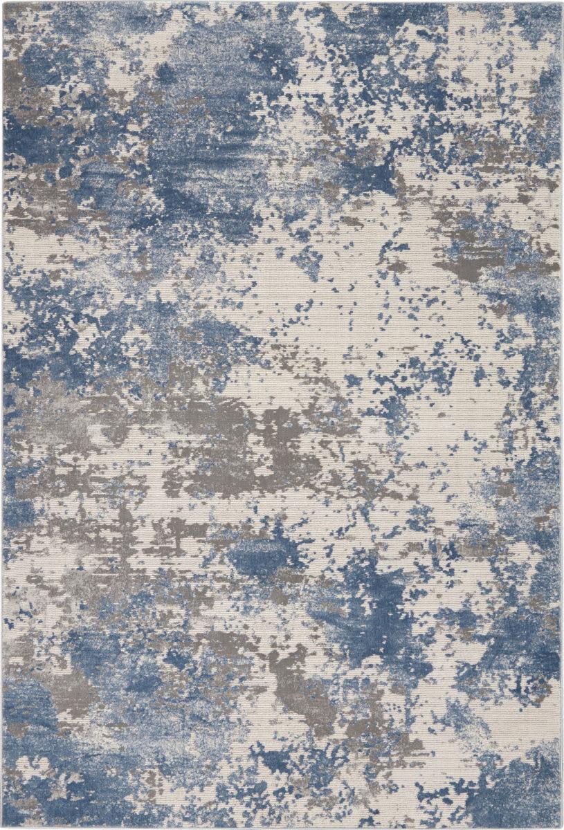 Nourison Rustic Textures Rus08 Grey Blue Rug Studio