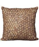 Nourison Pillows Button 4002 Brown