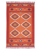 Nourison Baja Baj02 Orange - Red Area Rug