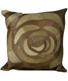Nourison Pillows Natural Leather Hide C5100 Green