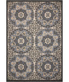 Nourison Caribbean Crb15 Ivory - Charcoal Area Rug