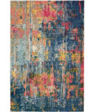 Nourison Celestial Ces09 Blue - Yellow Area Rug