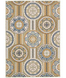 Nourison Caribbean Crb03 Yellow Area Rug