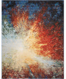 Nourison Chroma Crm02 Red Flare Area Rug
