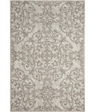 Nourison Damask Das01 Ivory-Grey Area Rug