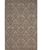 Nourison Damask Das02 Grey Area Rug