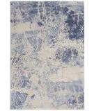 Nourison Silky Textures Sly02 Blue - Cream Area Rug