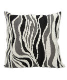 Nourison Luminescence Pillow E6193 Black Silver